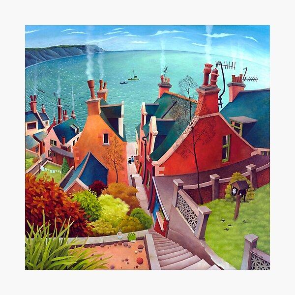Sea houses. Gardenstown. Photographic Print