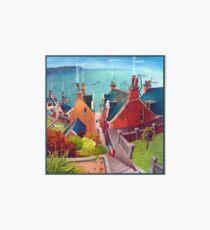 Sea houses. Gardenstown. Art Board
