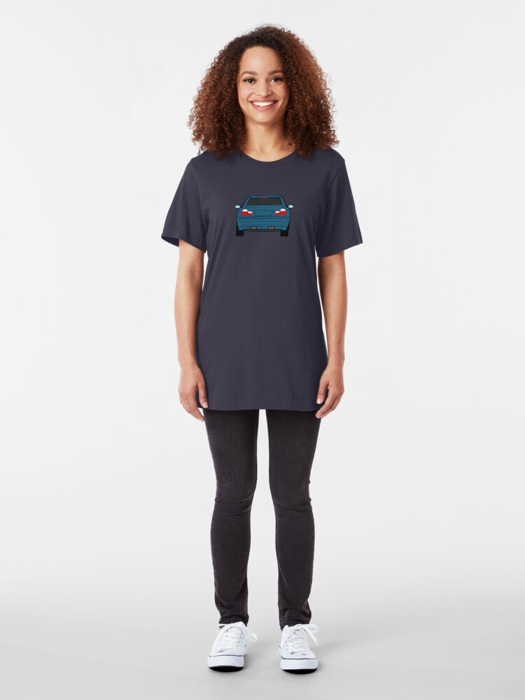 Alternate view of Wide E46 Topaz Blue Slim Fit T-Shirt