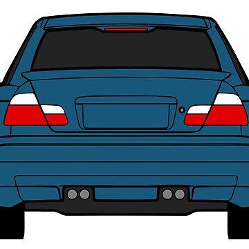 Wide E46 Topaz Blue by carsaddiction