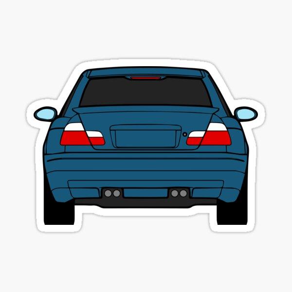 Wide E46 Topaz Blue Sticker