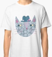 Flowery Cat in a Flowery Hat Classic T-Shirt