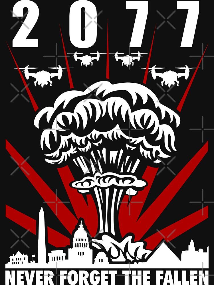 2077 Never Forget The Fallen V1 | Unisex T-Shirt