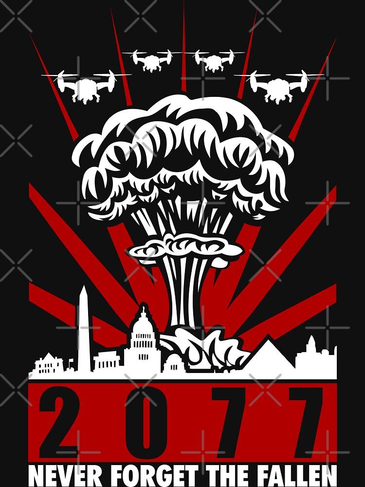2077 Never Forget The Fallen V2 | Unisex T-Shirt