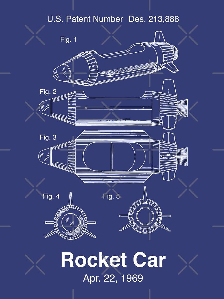 Rocket Jets Raketenauto Patent von retrocot