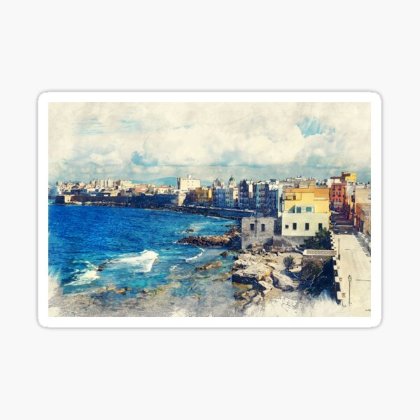 Trapani art 19 Sicily #trapani #sicily Sticker