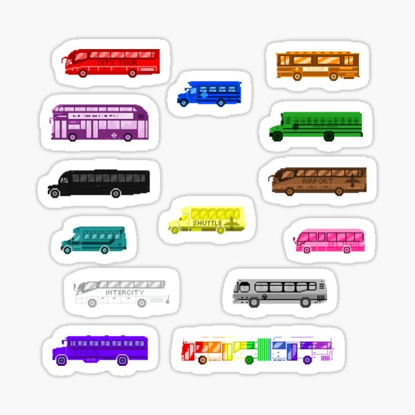 Bus Colors - The Kids' Picture Show Sticker