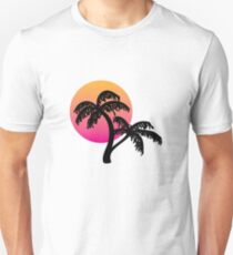 Outrun Palm Tree Sunset Unisex T-Shirt