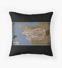 Roman's Vale Map  Throw Pillow