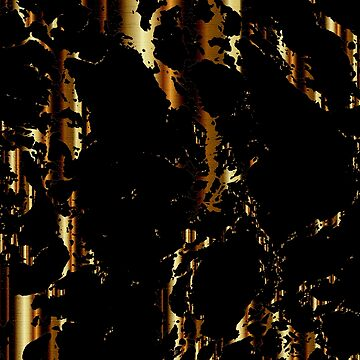 Black and Gold Marble Pattern Design by DonnaSiggy