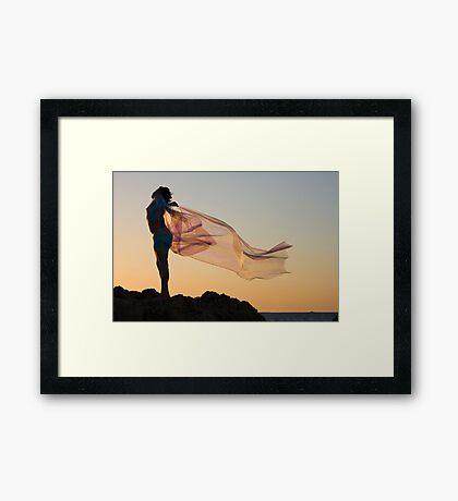 Sunset Princess Framed Print