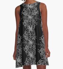 Dark Flower A-Line Dress