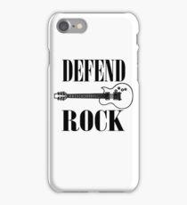 defend rock guitar design iPhone Case/Skin