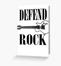 defend rock guitar design Greeting Card