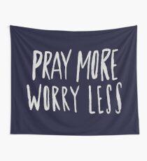 Pray More x Navy Wall Tapestry