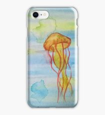 Jellyfish Water Color iPhone Case/Skin