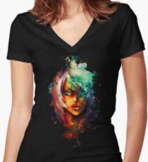 Jasper: Corruption Women's Fitted V-Neck T-Shirt