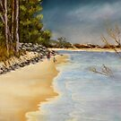 Woodgate Beach  Qld Australia by sandysartstudio