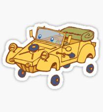 little yellow kubelwagen Sticker