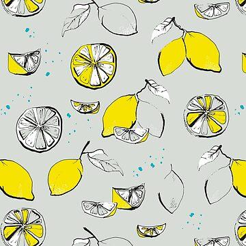 lemons - white von youdesignme