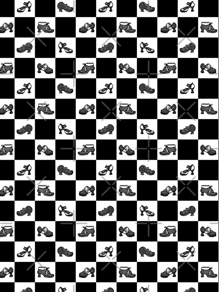 Fluevog BW Checker Pattern by annembray