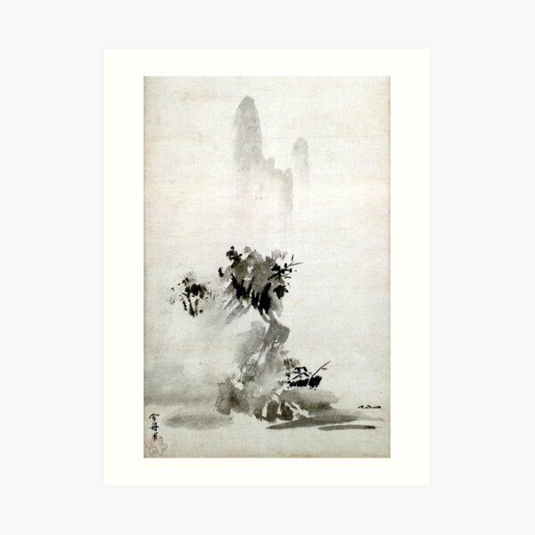 Sesshu Toyo Haboku-Sansui Landscape Art Print