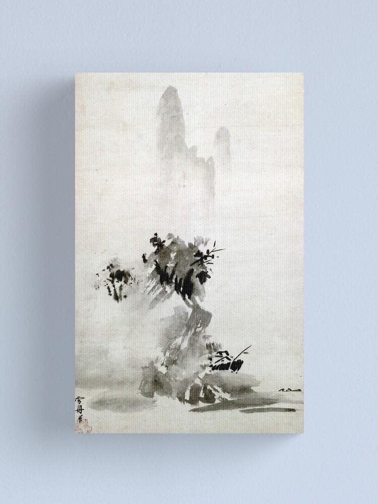 Alternate view of Sesshu Toyo Haboku-Sansui Landscape Canvas Print