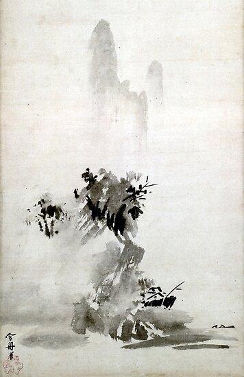 Sesshu Toyo Haboku-Sansui-Landschaft von pdgraphics
