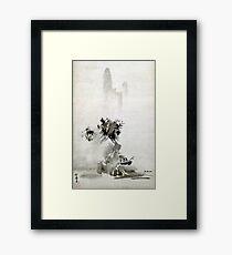 Sesshu Toyo Haboku-Sansui Landscape Framed Print