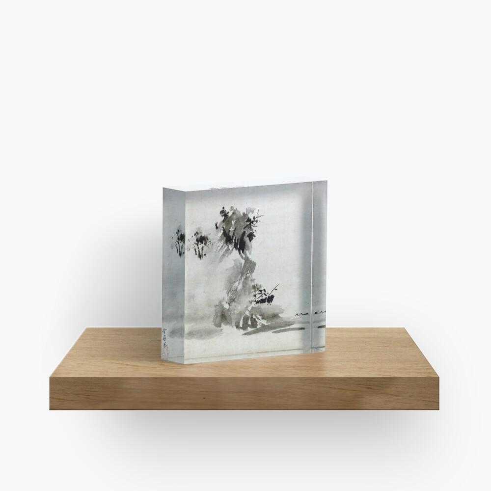 Sesshu Toyo Haboku-Sansui Landscape Acrylic Block