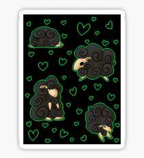 Ovejitas y corazones Sticker