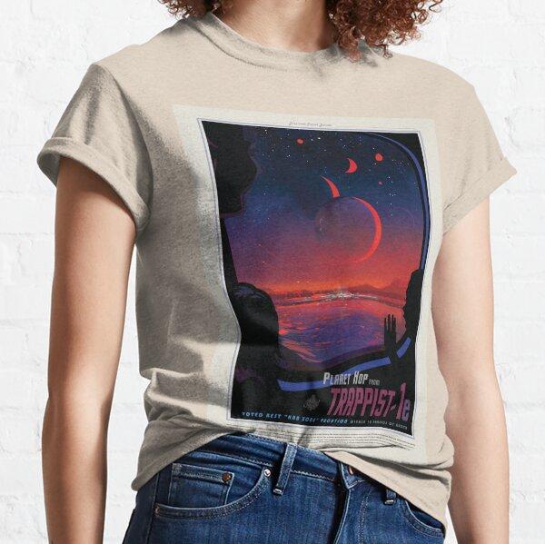 NASA JPL Exoplanet Travel Bureau: TRAPPIST-1e (8K resolution) Classic T-Shirt