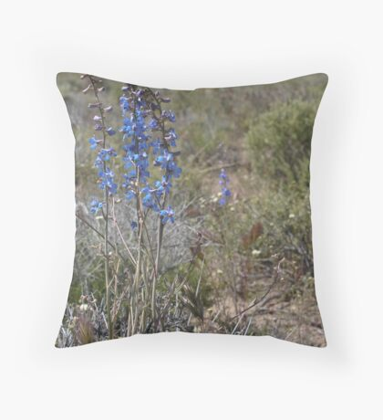 Nevada larkspur Throw Pillow