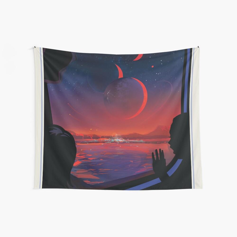 NASA JPL Exoplanet Reisebüro: TRAPPIST-1e Wandbehang