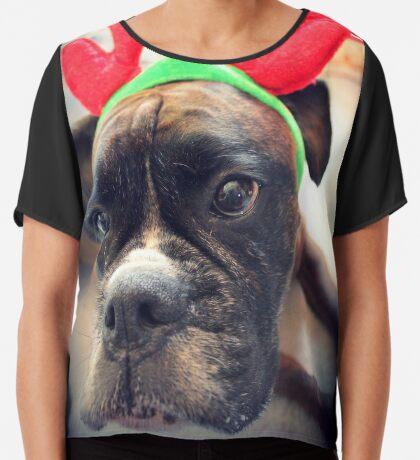 Es ist diese Zeit des Jahres wieder ... Bah Humbug ... - Boxer Dogs Series Chiffontop für Frauen