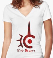 FFXIV Red Mage! Women's Fitted V-Neck T-Shirt