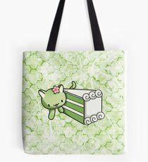 Gateau Matcha Kitty Tote Bag