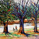 Brisk walk winter, Maribyrnong River.  by Elizabeth Moore Golding