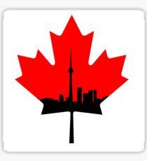 Toronto Skyline Maple Leaf Sticker