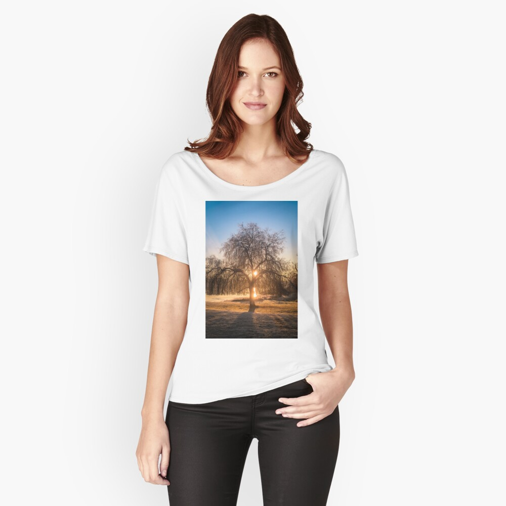 Weeping Willow Tree Sunrise  Relaxed Fit T-Shirt