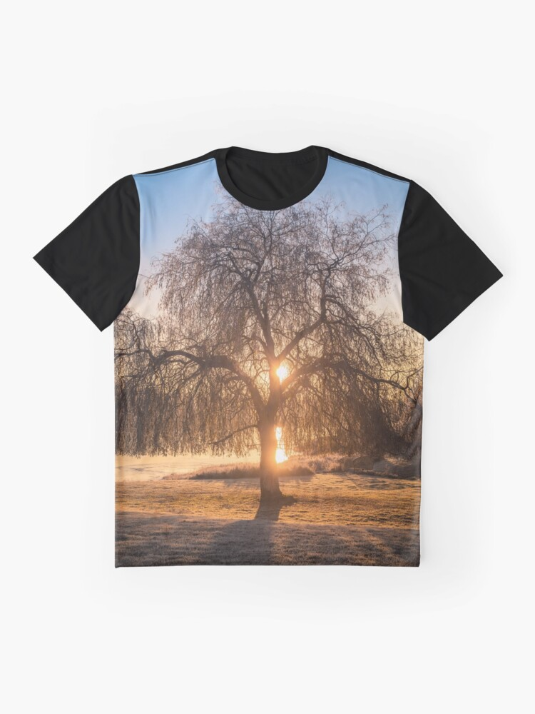 Alternate view of Weeping Willow Tree Sunrise  Graphic T-Shirt