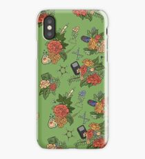 STEM floral pattern iPhone Case/Skin
