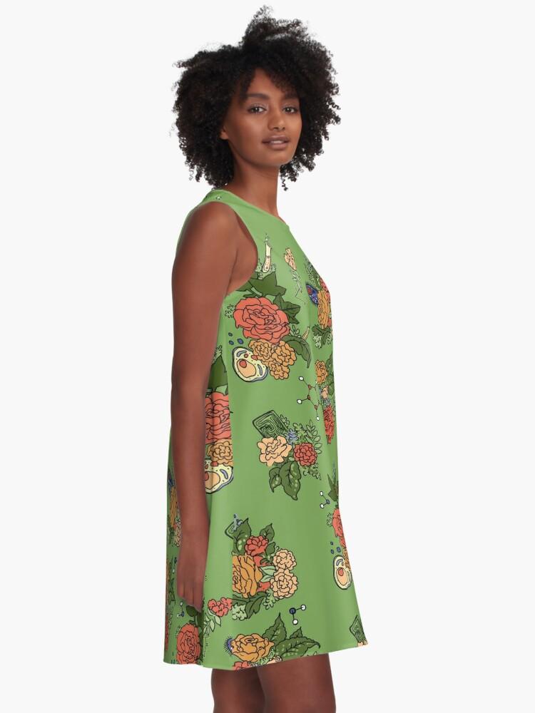 Alternate view of STEM floral pattern A-Line Dress