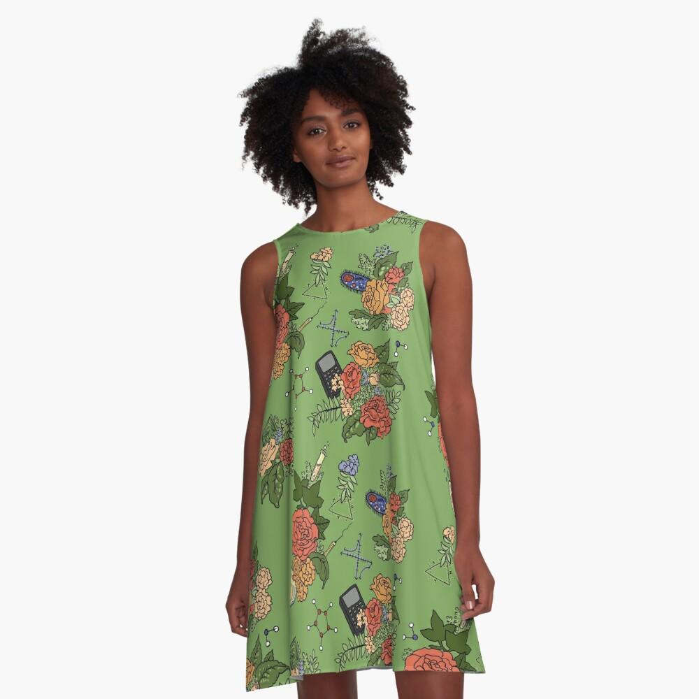 STEM floral pattern A-Line Dress