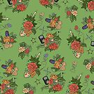 STEM floral pattern by dcrownfield