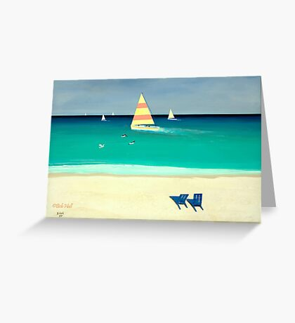 COASTAL CALM, Acrylic Painting, for prints and products Greeting Card