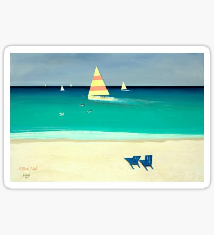 COASTAL CALM, Acrylic Painting, for prints and products Sticker