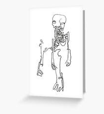Skeletal Sketch #2 Greeting Card