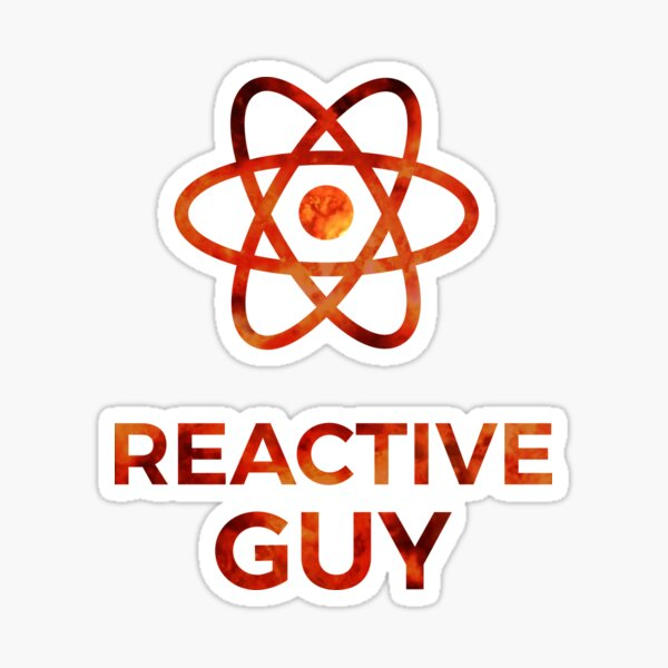 Reactive Guy - React JS Stuff Sticker
