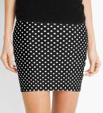 Black With Small White Polka Dots Mini Skirt